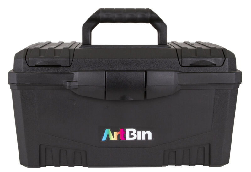 Artbin Twin Top Storage Box with Lift Out Tray, Compartments, and Top Carry H...