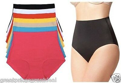 (High Waist Tummy Control Panties Laser Cut Briefs NEW #5507 Lot 6 or 12 Pack)