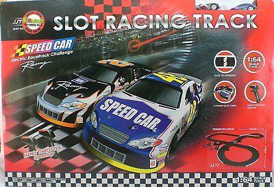 Nascar Style Slot Car Track Ho Scale Race Set IMPROVED 2016!