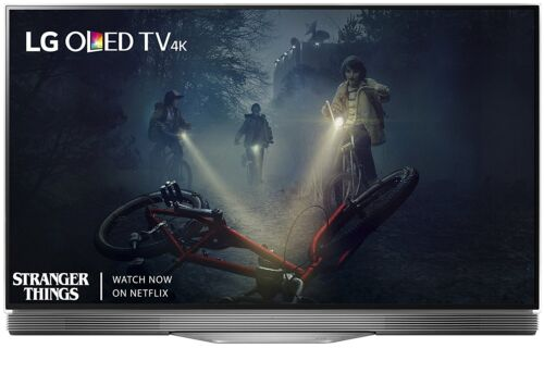 """LG 55"""" Class (54.6"""" Diag.) OLED 2160p Smart 4K Ultra HD TV with High Dynamic Range Silver OLED55E7P"""