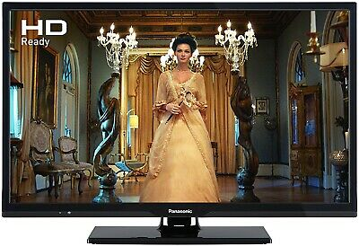 Black 24'' Panasonic TV with remote HD ready and freeview with mini stand