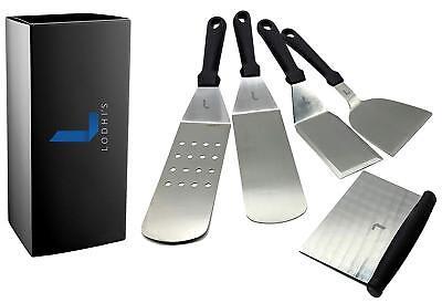 Set of 5 Metal Spatula Stainless Steel with Plastic Handle Multipurpose Spatula (Metal Spatula)