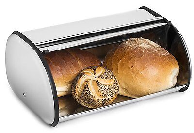 Stainless Steel Bread Bin Kitchen Organization Red Storage Box Food Container