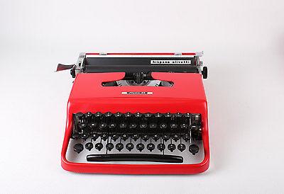 Black Friday Sale!!! RED OLIVETTI PLUMA 22 - vintage portable working typewriter