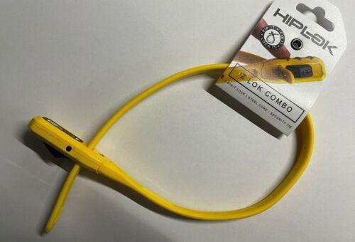 Hiplok Z-Lok Combo Armoured Reusable Tie Lock Yellow