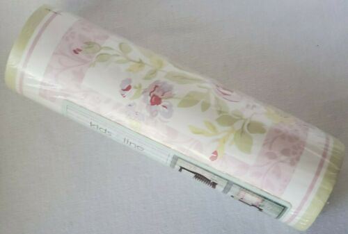 NEW KIDSLINE EMMA PINK FLORAL ROSES ONE ROLL WALLPAPER BORDER