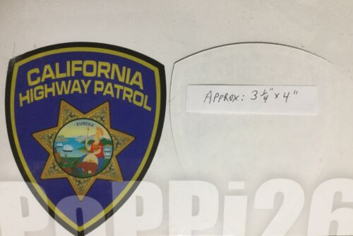 CHP California Highway Patrol OFFICIAL Decal Inside/Window FACES/OUTSIDE Sticker