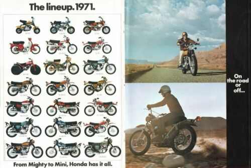1971 Honda - From Mighty to Mini - 6-Page Vintage Motorcycle Ad / Brochure