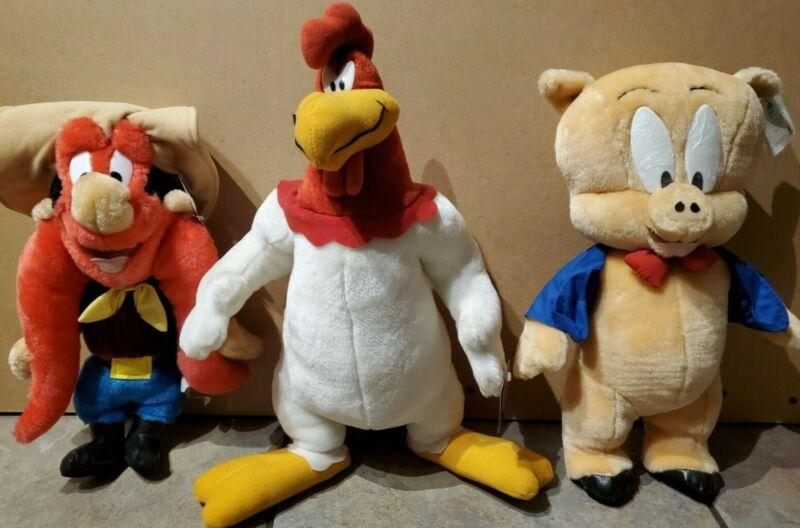 Vintage 1997 Looney Tunes ACE Stuffed Plush Toys ***LOT OF 3***