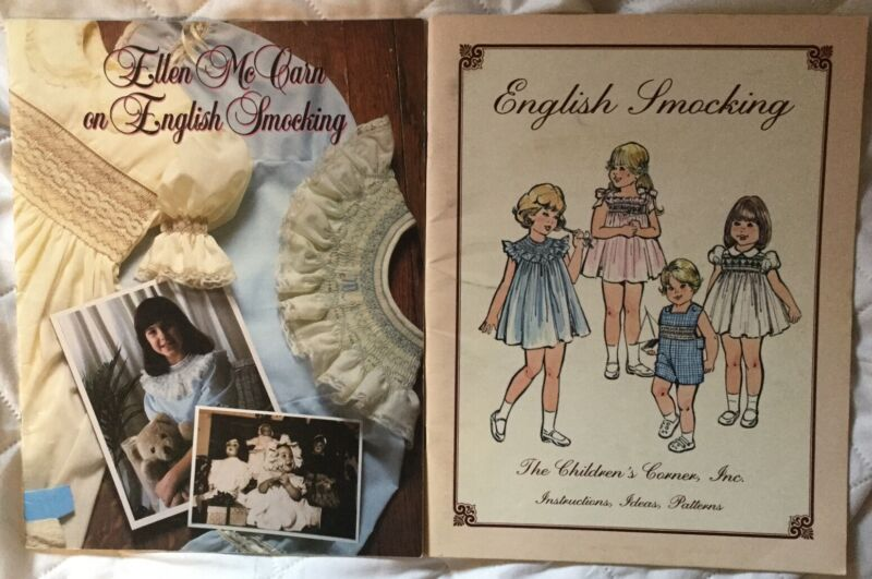 2 Vintage English Smocking Books, Ellen McCain, The Children's Corner