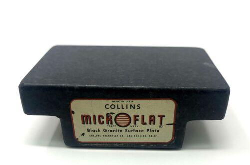 "Vintage Collins MicroFlat Granite Surface Plate 3""x 2"""