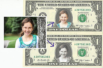 CUSTOM Dollar Bill WITH YOUR PICTURE - REAL Money! Customized How You Want !
