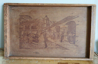 Wooden Tray 1930s/40s Mexican Redwood P&P Included