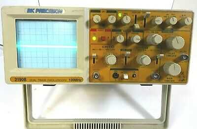 Bk Precision 2190b Dual Trace Oscilloscope 100mhz Good Working Free Shipping