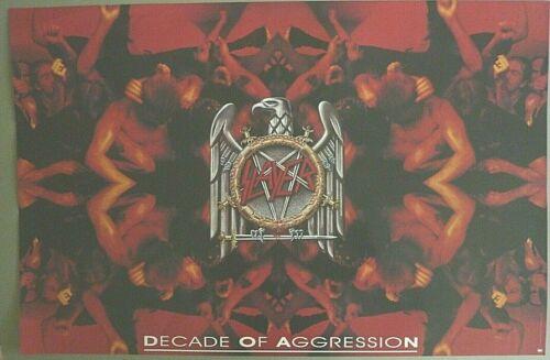 RARE SLAYER DECADE OF AGGRESSION 1991 VINTAGE ORIGINAL MUSIC STORE PROMO POSTER