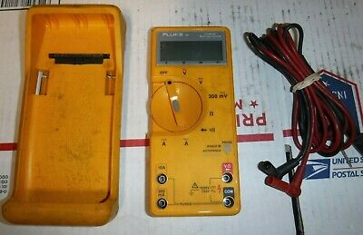 Fluke Multimeter W Leads Rubber Case