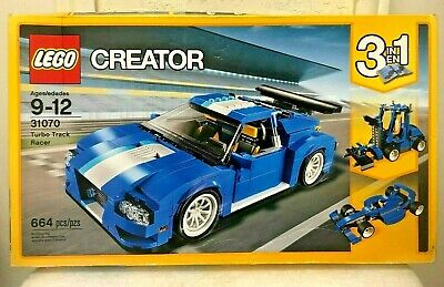 Lego No. 31070 Creator 3 in 1 TURBO TRACK RACER 664 Pcs  2017 - New Sealed