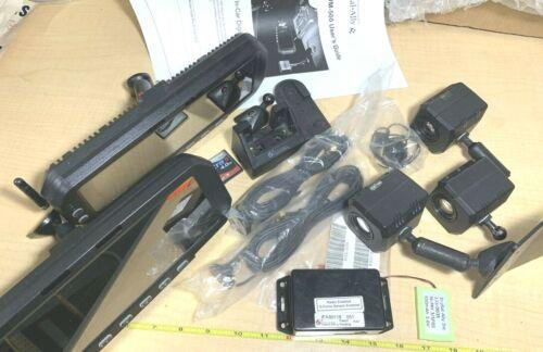 Lot of 13 - Digital Ally DVM-500 (2) Police Car Video Mirror, (3) Cameras, Parts