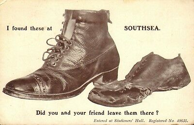 1910 postcard - i found these at southsea ! did you leave them ! (I Found Them)