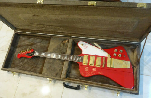 1999 Epiphone 63 Firebird VII Reissue Cardinal Red - Made in Korea