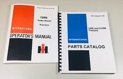 International Farmall Ih 1256 Tractor Parts Assembly Catalog Operators Manual