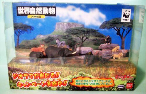 Bandai World Wild African Animal WWF Gorilla & Elephant minifigure set New