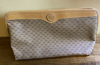 """Authentic Vintage GUCCI GG Clutch Cosmetic Case Bag, 14"""" long"""