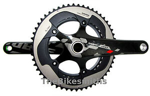 SRAM Red 10 Sp Exogram GXP 172.5mm 50-34t Road Bike Crank Set Compact Carbon Fib