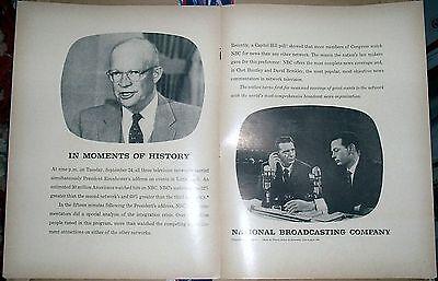 57 Rare Nbc News  Huntley   Brinkley  Promo Ad