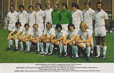 LEEDS UNITED FOOTBALL TEAM PHOTO 1974-75 SEASON