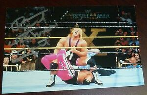 Bret-The-Hitman-Hart-Signed-1999-Wrestlemania-X-Live-4x6-Photo-Card-WWE-vs-Owen