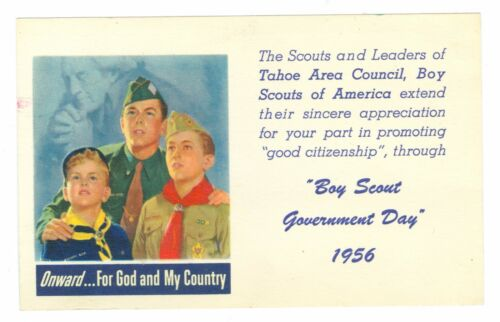 March 7, 1956 Tahoe Area Council, Boy Scouts, Boy Scout Government Day PM PC