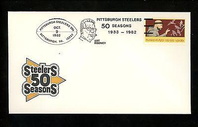 US POSTAL HISTORY SPORTS FOOTBALL NFL STEELERS 50 SEASONS 1982 PITTSBURGH PA