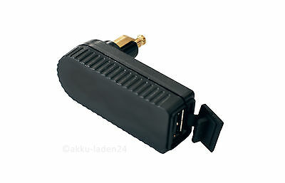 USB 12V/24V Winkeladapter Motorrad Bordstecker für kleine Bordsteckdose DIN4165