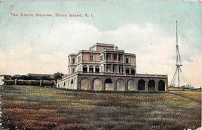 c.1910 Searles Mansion Block Island RI post card
