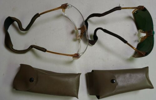 Rare American Optical Army issue glasses, 2 pair, laser, TEST ?( Loc =H2 Front)