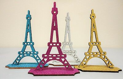GLITTER EIFFEL TOWER STAND SCULPTURE PARIS FRENCH THEMED DECORATION](Paris Themed Party Decorations)