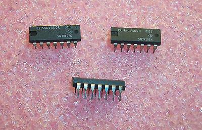 Qty 25 Sn74107n Ti 14 Pin Dip Jk-type Flip Flop Nos 1 Tube