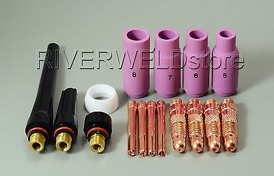 Tig Collet Body Kit Wp 17 18 26 Tig Welding Torch Consumables Accessories 16pcs