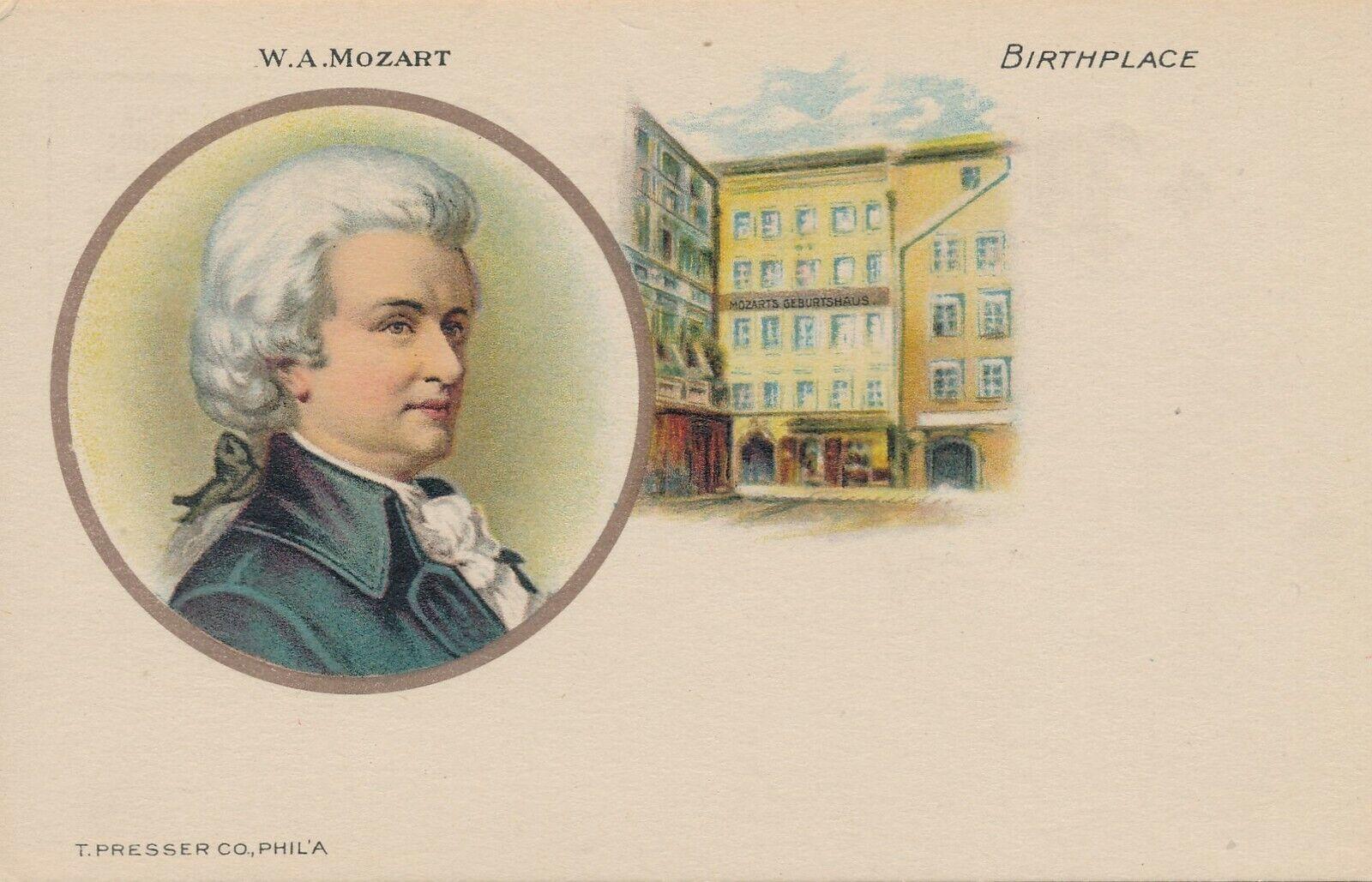 Wolfgang Amadeus Mozart Y Su Lugar De Nacimiento Udb Antes De 1908 Ebay