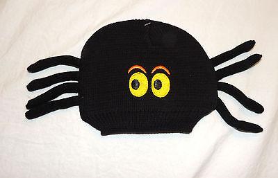 Neu Baby Schwarz Spinne Hut Größen 0 Thru 12 M Halloween Kostüm Winter - Baby Bug Kostüm