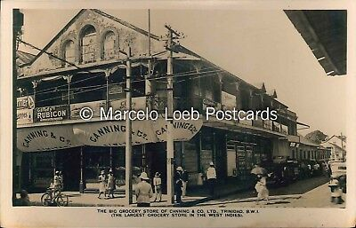 TRINIDAD THE BIG GROCERY STORE OF CANNING & CO B.W.I. REAL PHOTO