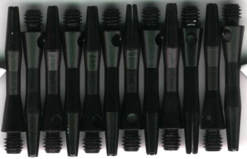 2ba Black//Silver Aluminum TOP SPIN Dart Shafts 1.25in 1 set of 3