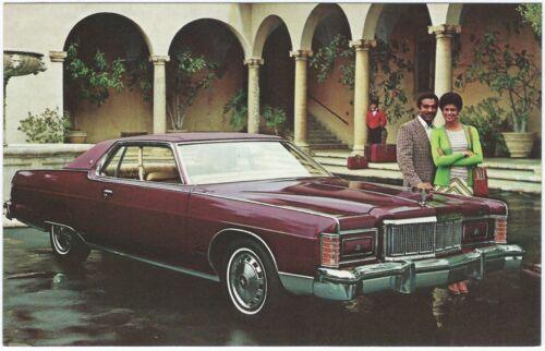 1975 Mercury MARQUIS BROUGHAM 2-Door Hardtop Dealer Promo Postcard UNUSED VG+ ^