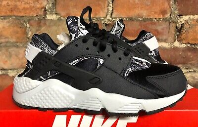 NIKE AIR HUARACHE RUN PRINT BLACK WHITE UK4 US6.5 EU37.5 725076 002 ANIMAL PRINT