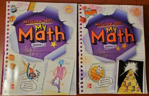 BRAND NEW! McGraw Hill MY MATH Grade 5 Volume 1 & 2 Set ~Workbooks Practice 2013