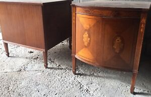 Beautiful early - mid century solid wood side / accent tables