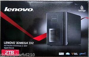 Lenovo ix2 Network Storage 2-Bay 2TB (2HD X 1TB) External Hard Drive RAID NAS