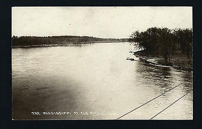 Elk River Minnesota MN 1929 RPPC Mississippi River, Park, Boat Ramp Shorelines