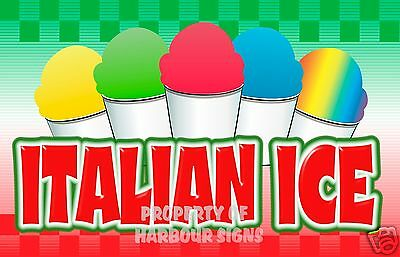 Italian Ice Concession Decal 14 Restaurant Food Truck Cart Stand Vinyl Sticker